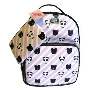 BETSEY JOHNSON Panda Backpack and Pouch Set